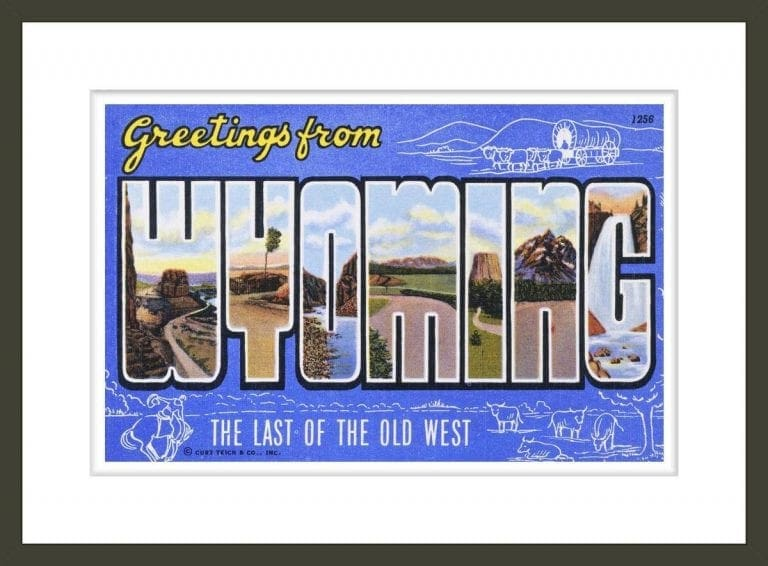 Postcard of Greetings from Wyoming