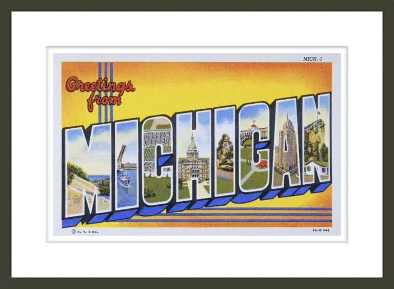 Postcard of Greetings from Michigan