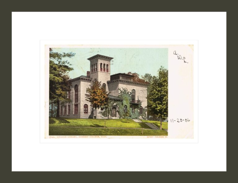 College Library, Amherst College, Mass. Postcard