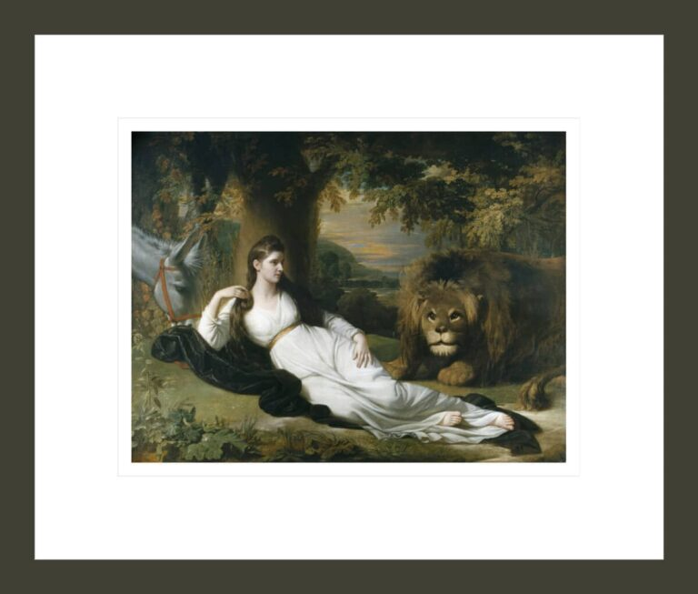 Una and the Lion (Mary Hall in the Character of Una)