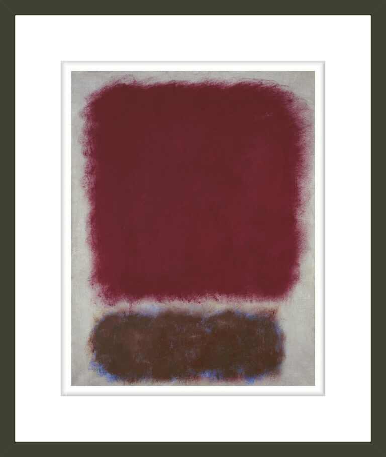Untitled (Red over Brown)