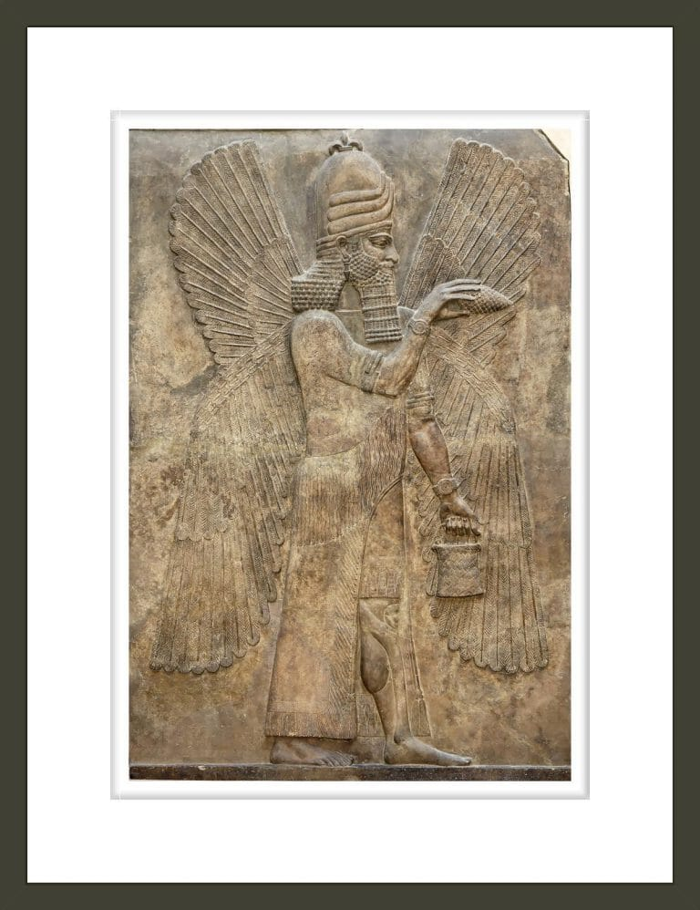 Assyrian relief of winged genie