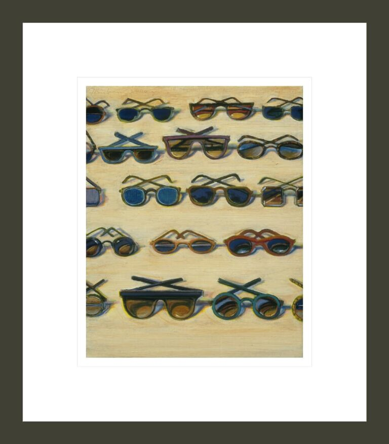 Five Rows of Sunglasses