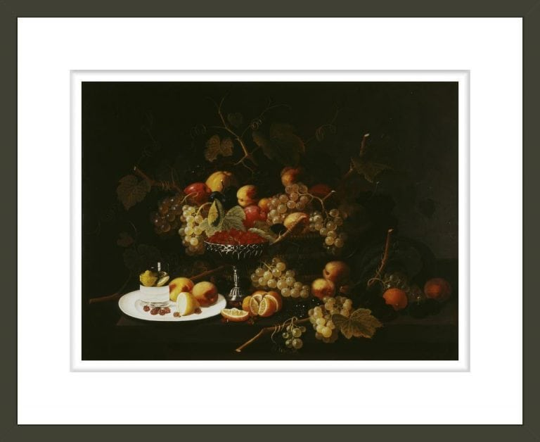 Still Life with Fruit and Sliced Lemon