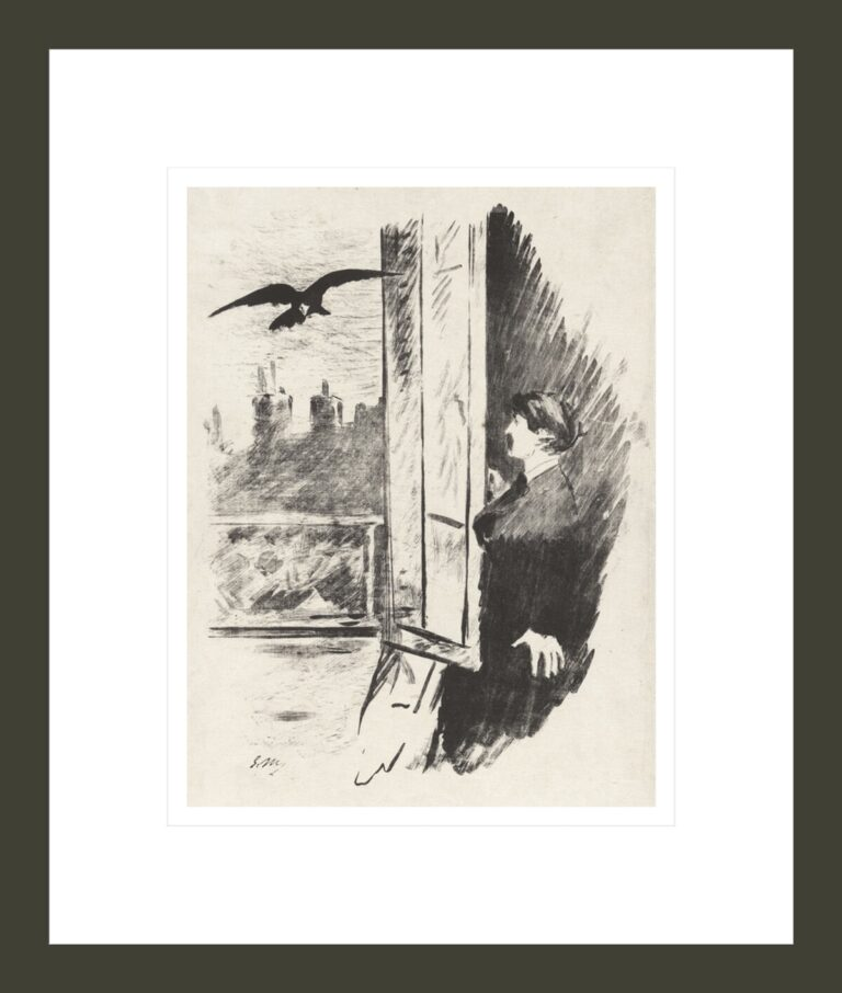 At the Window, from Stéphane Mallarmé's translation of Edgar Allan Poe's The Raven