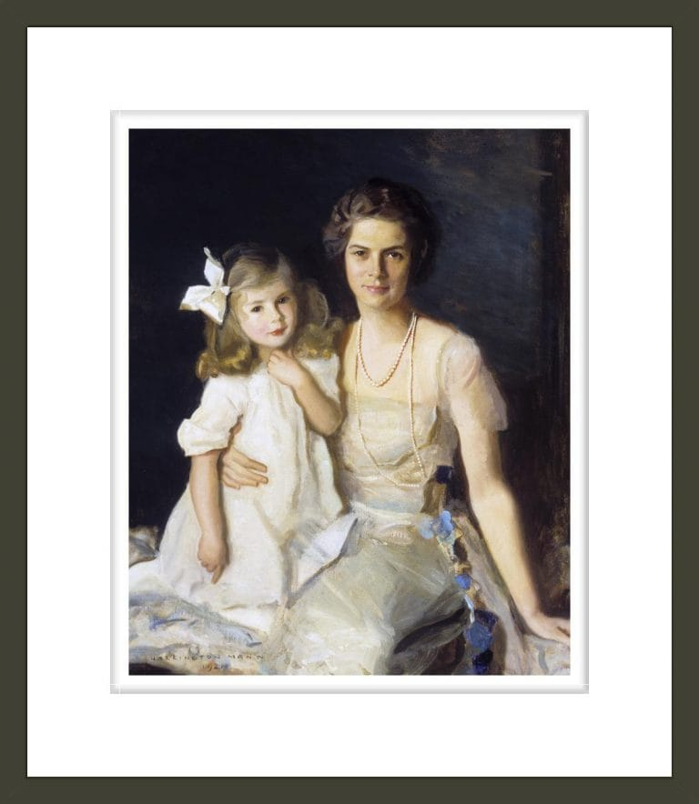 Portrait of Ruth Wales du Pont (Mrs. Henry Francis du Pont) and Her Daughter Pauline Louise