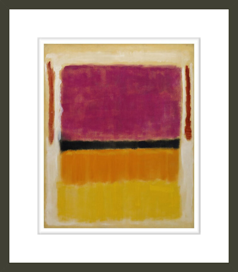 Untitled (Violet, Black, Orange, Yellow on White and Red)