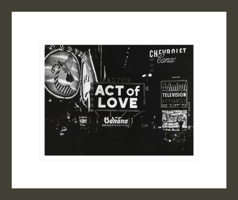 [Act of Love, Astor Theater, Times Square, New York]