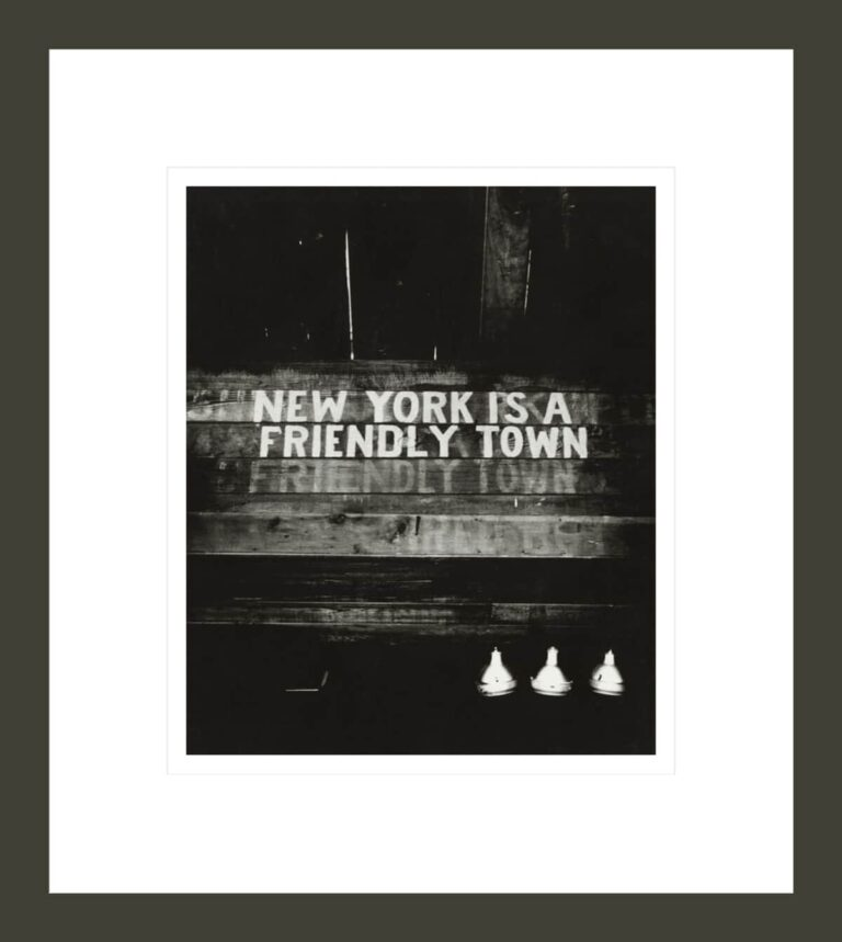 [New York Is a Friendly Town]