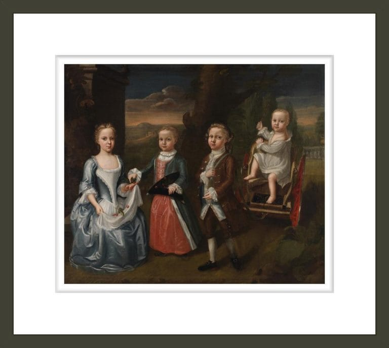 Portrait of the children of Philip and Mary Grymes of Middlesex County