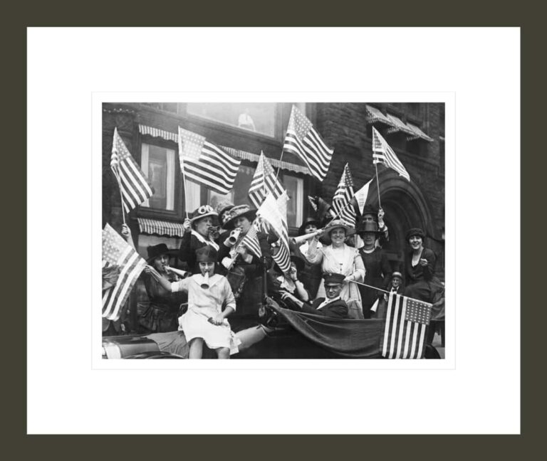 Suffragettes Celebrating Passing of 19th Amendment