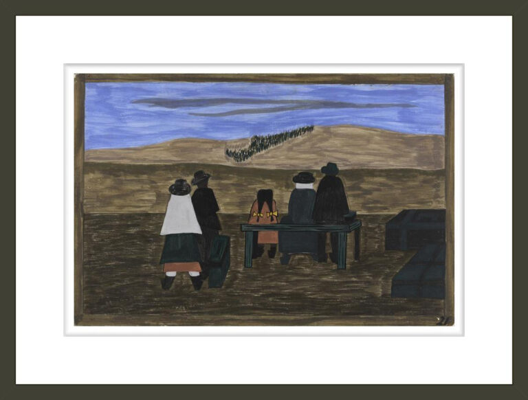 The Migration Series, Panel no. 21: Families arrived at the station very early. They did not wish to miss their trains north.