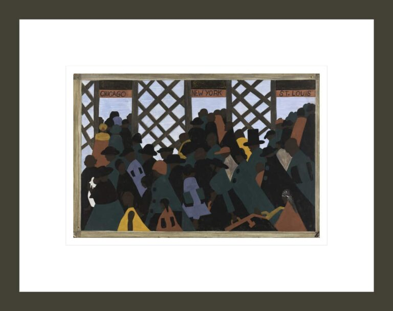 The Migration Series, Panel no. 1: During World War I there was a great migration north by southern African Americans.