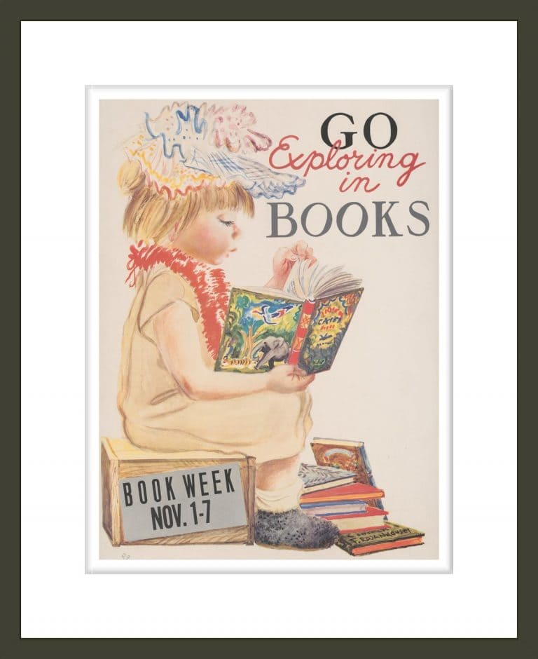 Go exploring in books. Book week Nov. 1-7