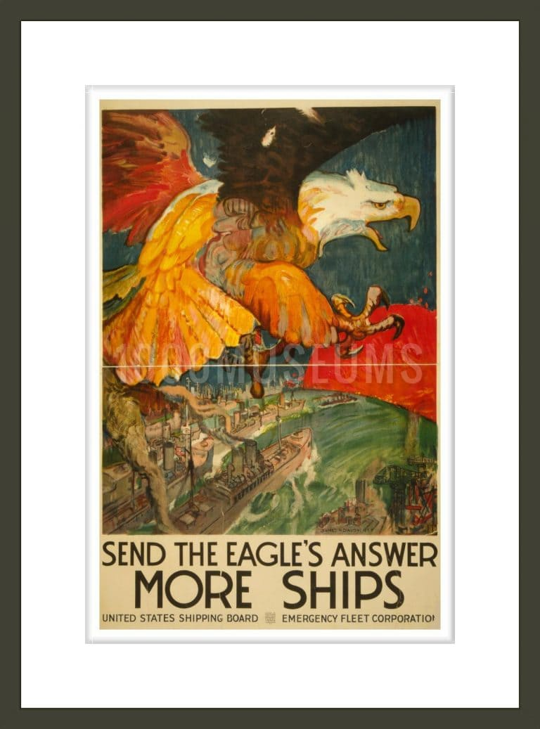 Send the eagle's answer - more ships United States Shipping Board, Emergency Fleet Corporation / / James H. Daugherty.