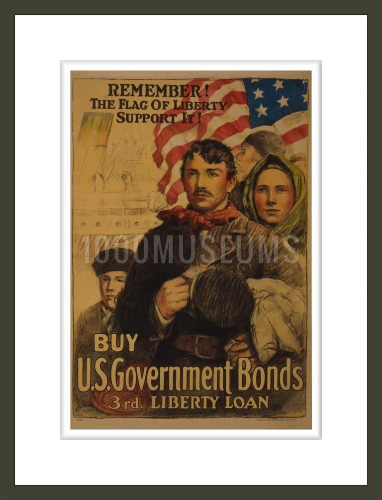Remember! The flag of liberty - support it! Buy U.S. government bonds 3rd. Liberty Loan