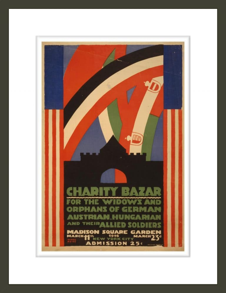 Charity bazar [i.e., bazaar] for the widows and orphans of German, Austrian, Hungarian and their allied soldiers / Winold Reiss.