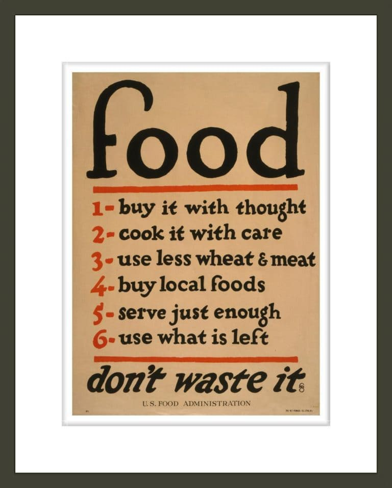 Food--don't waste it / fgc ; The W. F. Powers Co. Litho., N.Y.