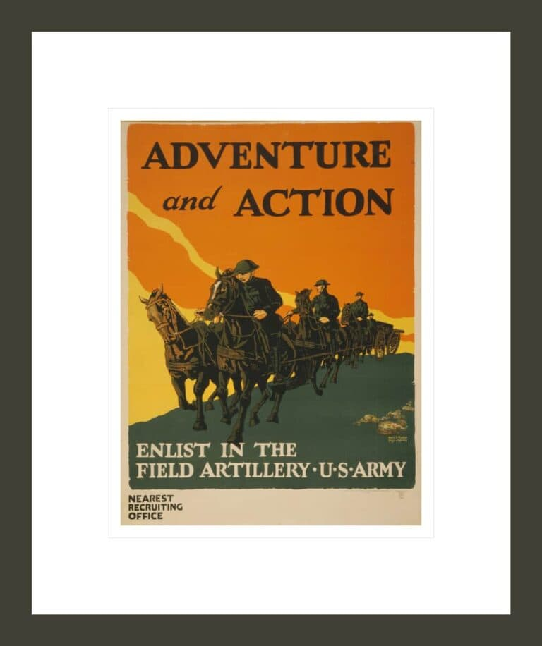 Adventure and action Enlist in the field artillery, U.S. Army / / Harry S. Mueller, Major Infantry.
