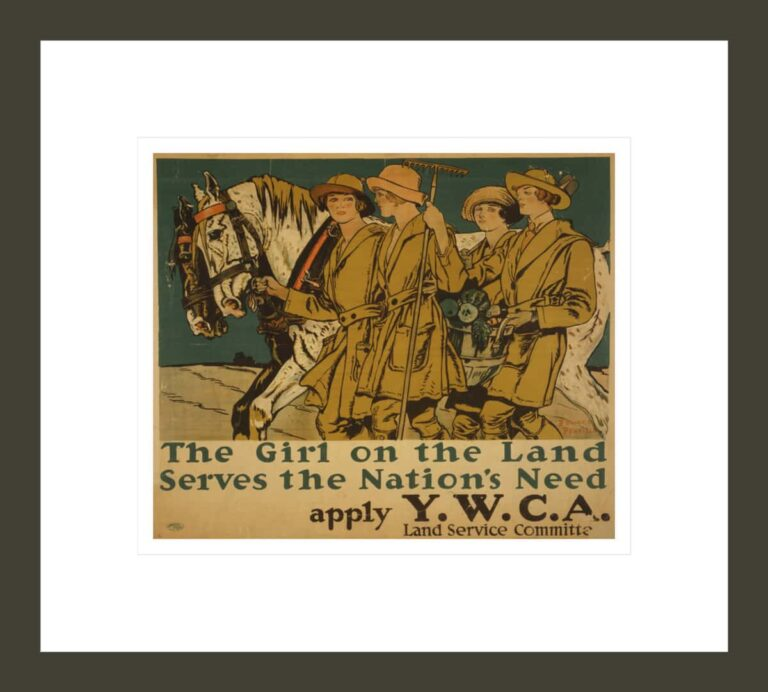The girl on the land serves the nation's need Apply Y.W.C.A. Land Service Committee / / Edward Penfield.