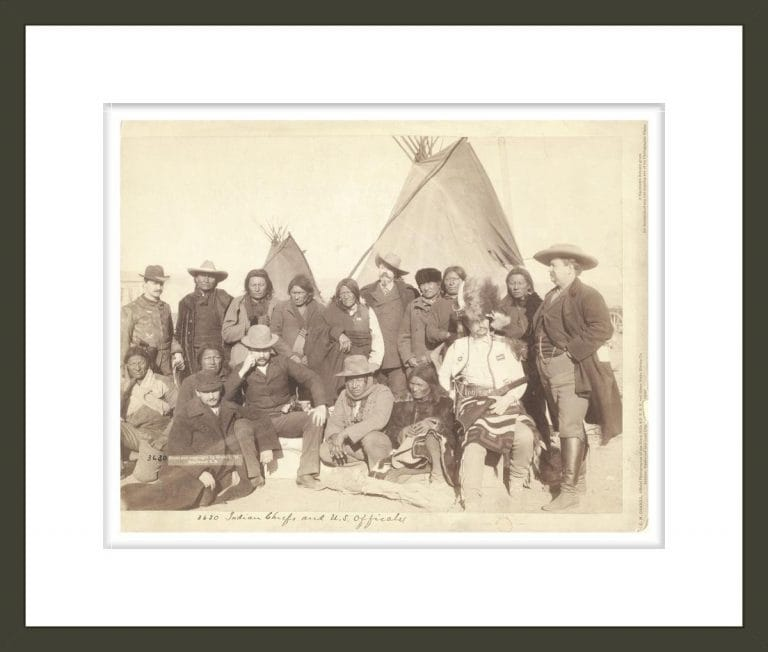 Indian chiefs and U.S. officials [at Pine Ridge, S.D.]