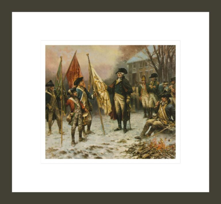 Washington inspecting the captured colors after the battle of Trenton