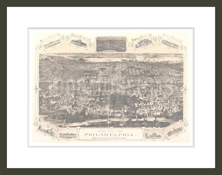 Bird's eye view, Philadelphia / lith. by H.J. Toudy & Co., Philadelphia, Pa.