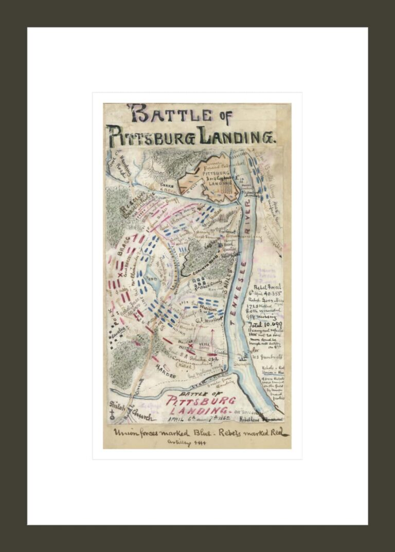 Battle of Pittsburg Landing or Shiloh April 6th and 7th 1862
