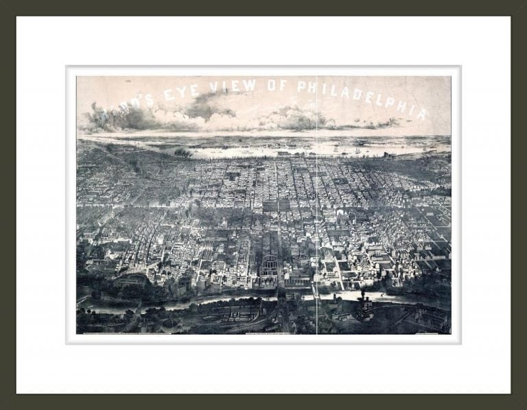 Bird's eye view of Philadelphia / J. Bachman, del. & lith.