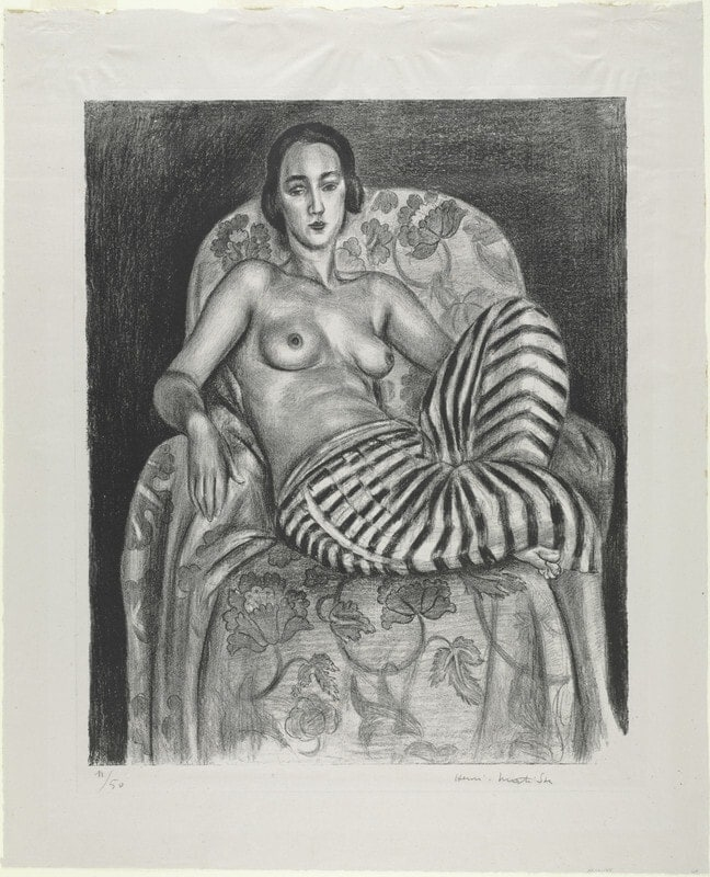 Large Odalisque with Striped Pantaloons