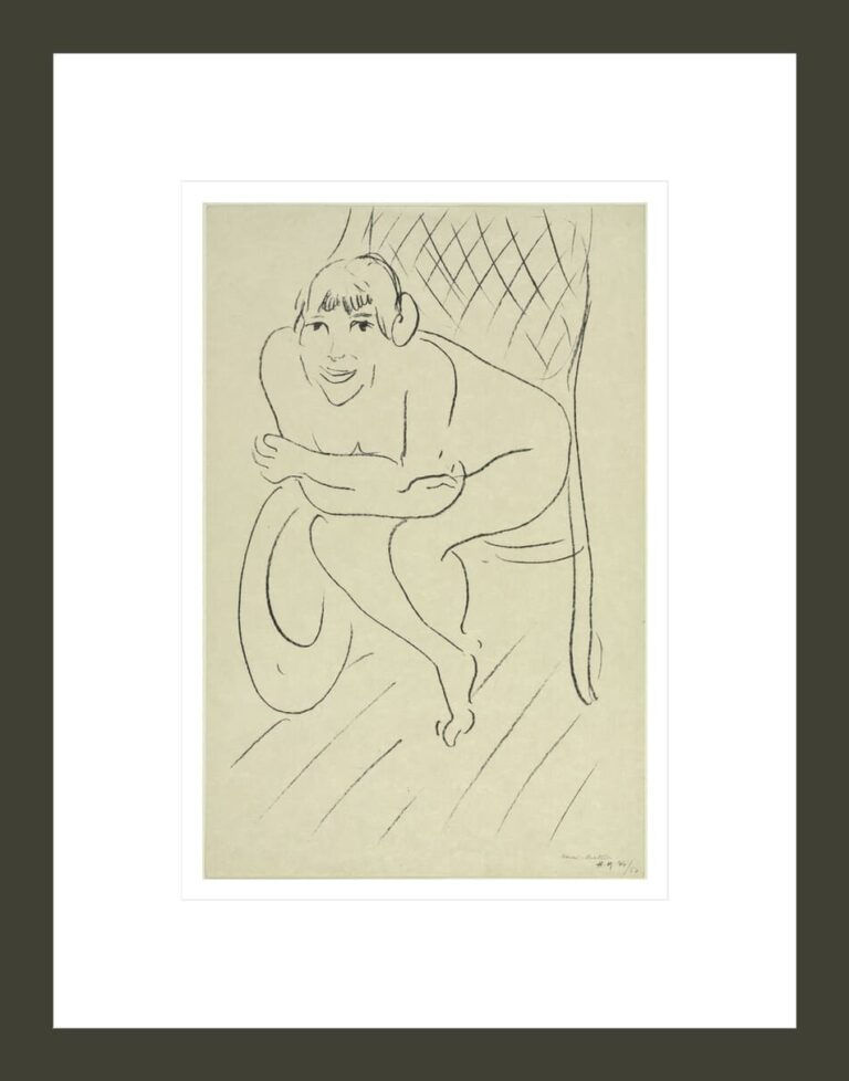 Nude in Rocking Chair