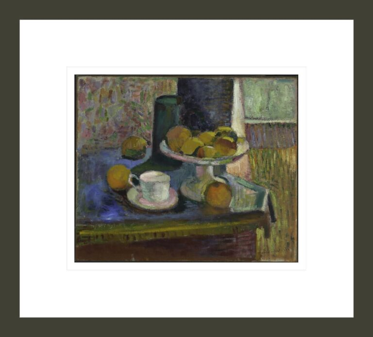 Still Life, Compote, Apples, and Oranges