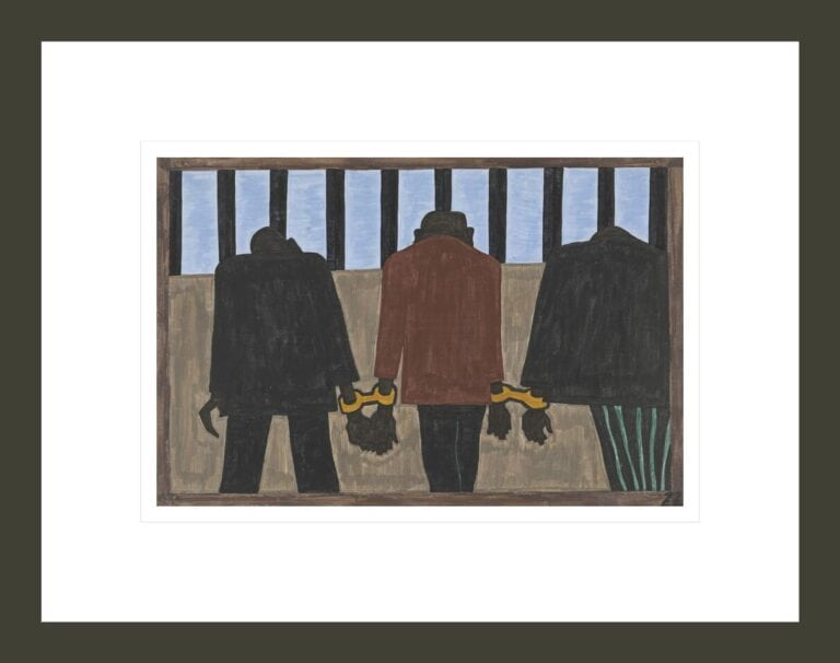Migration panel 22. Another of the social causes of the migrants' leaving was that at times they did not feel safe, or it was not the best thing to be found on the streets late at night. They were arrested on the slightest provocation.
