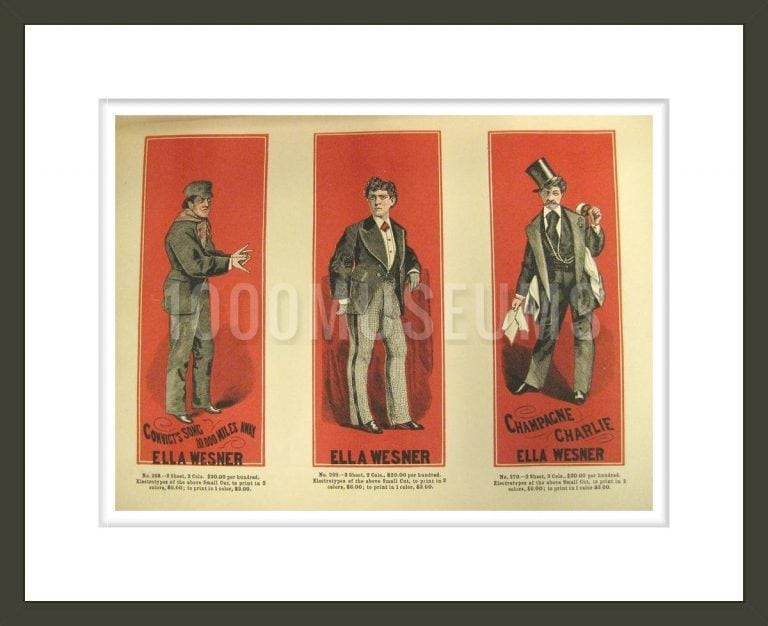 Specimens of Theatrical Cuts: Being Fac-Similes, in Miniature, of Poster Cuts: comprising colored and Plain Designs, Suitable for Theatrical, Variety and Circus Business . . .