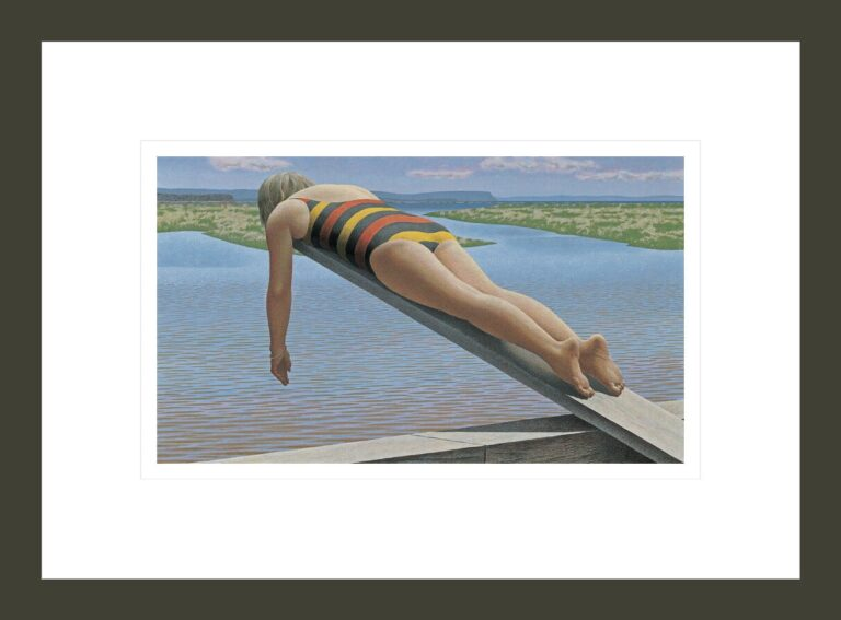 Woman on Diving Board