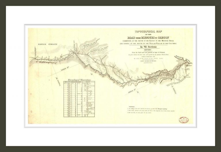 Topographical map of the road from Missouri to Oregon, Section I