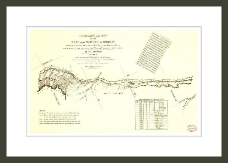 Topographical map of the road from Missouri to Oregon, Section III