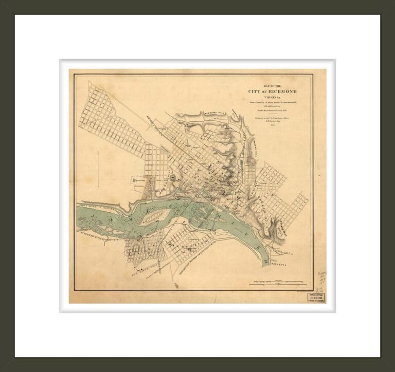 Map of the city of Richmond, Virginia