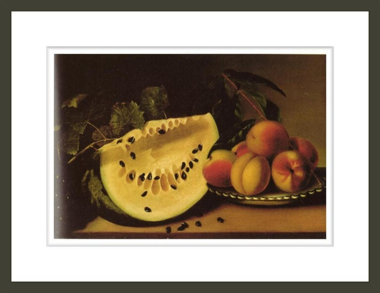 Still Life with Watermelon and Peaches