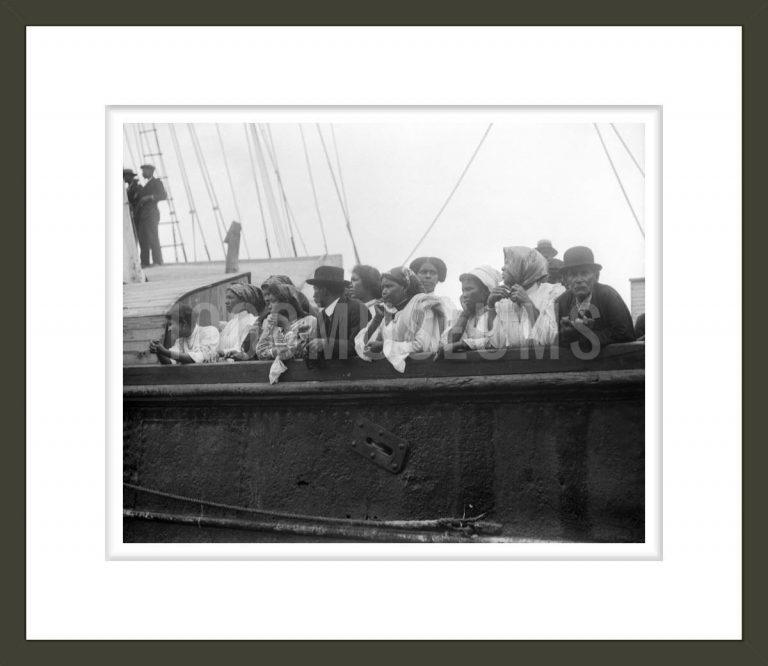 Cape Verdean Immigrants from Brava aboard the