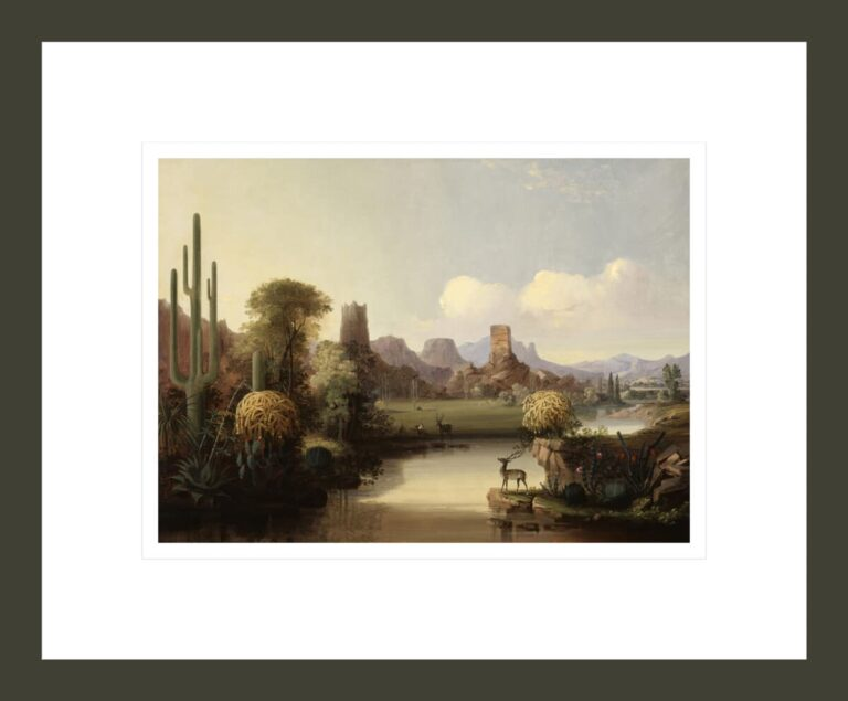 Chain of Spires along the Gila River