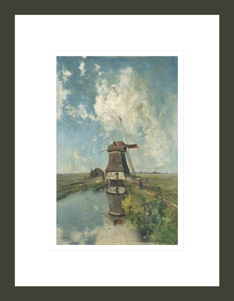 'In the Month of July': a Windmill on a Polder Waterway