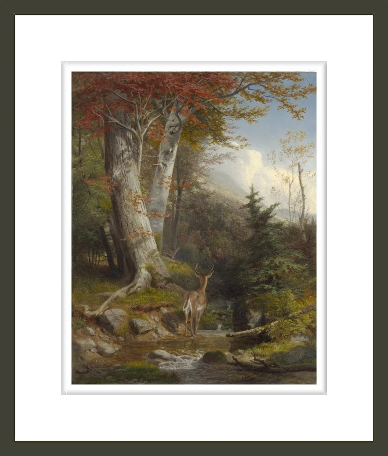 Mountain Stream and Deer, 1865