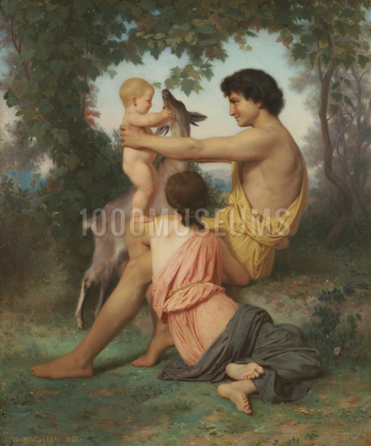 WILLIAM BOUGUEREAU FRENCH REALIST CLASSICAL DREAM OF SPRING ART