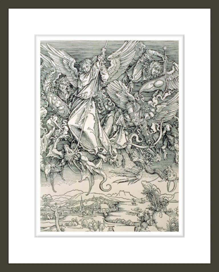 St. Michael Battling with the Dragon from the 'Apocalypse' or 'The Revelations of St. John the Divine'
