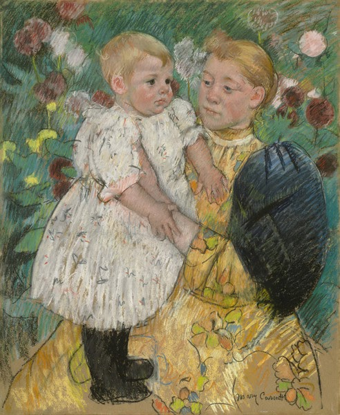 In the Garden by Mary Cassatt
