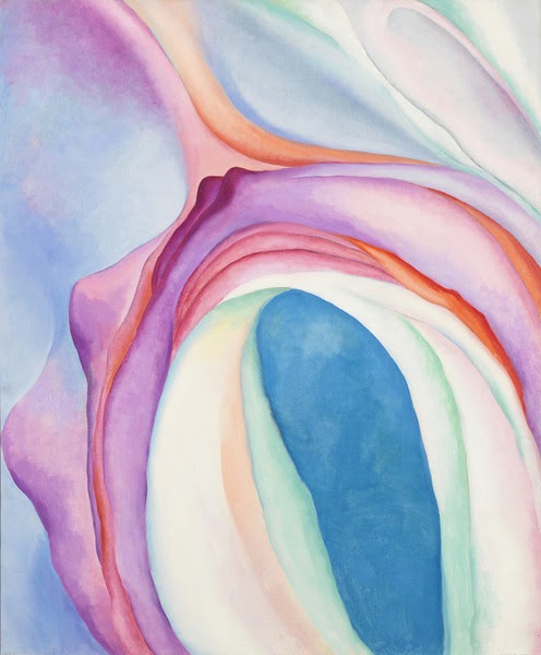 Music, Pink and Blue, No. 2 by Georgia O'Keeffe