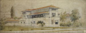 Isidore Heller House (perspective view). Chicago, IL