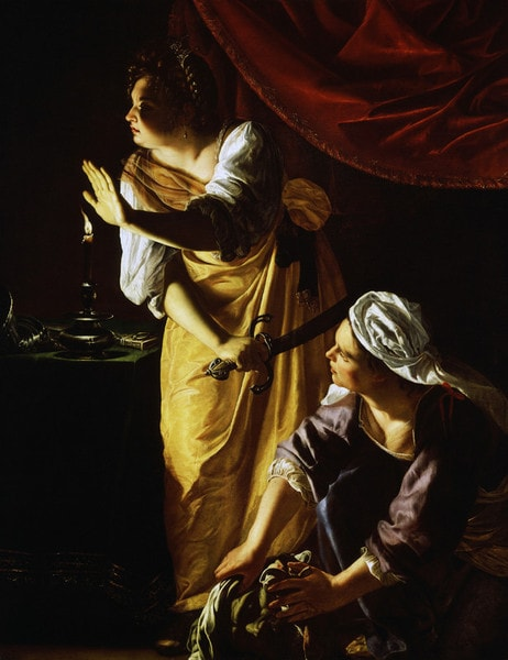 Artemisia Gentileschi, Judith and Her Maidservant with the Head of Holofernes