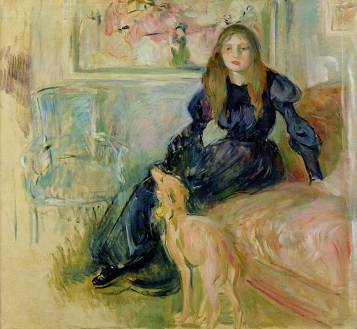 Julie Manet With Greyhound (Julie Manet Au Lévrier)